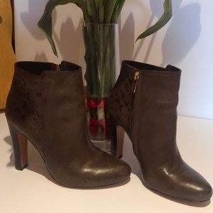 Coach brown 4 inch Ankle boots